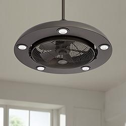 "Possini Euro Segue 24"" Wide Bronze 5-Light LED Ceiling Fan"