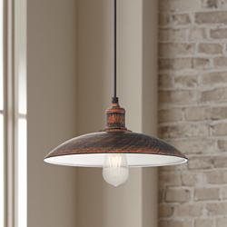 "Possini Euro Winner 12 1/4"" Wide Metal Pendant Light"