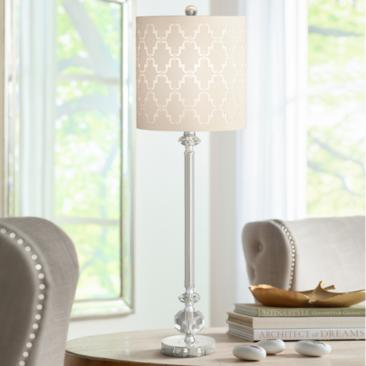 Samantha Crystal Column Table Lamp