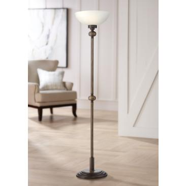 Possini Euro Olivet Torchiere Floor Lamp