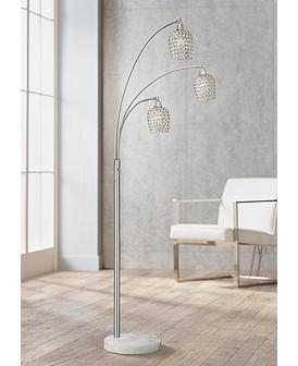 73 In And Up Extra Tall Crystal Floor Lamps Lamps Plus