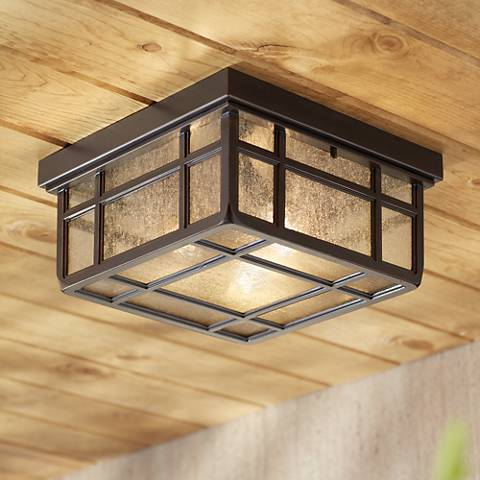 "J du J Sierra Craftsman 10 1/2""W Outdoor Ceiling Light"