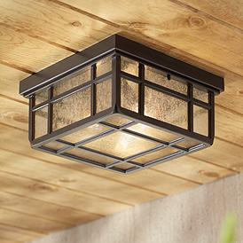Arts And Crafts Mission Flush Mount Outdoor Lighting