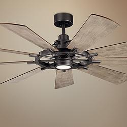 "65"" Kichler Gentry Anvil Iron LED Ceiling Fan"