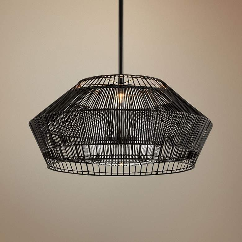 "Hunters Point 36"" Wide Dark Espresso Pendant Light"