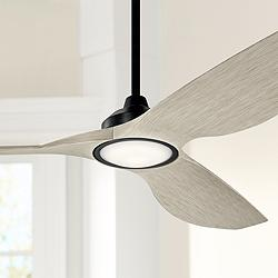 "65"" Kichler Imari Satin Black LED Ceiling Fan"