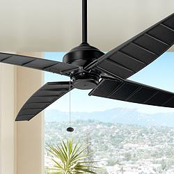 "60"" Kichler Surrey Climates Satin Black Ceiling Fan"