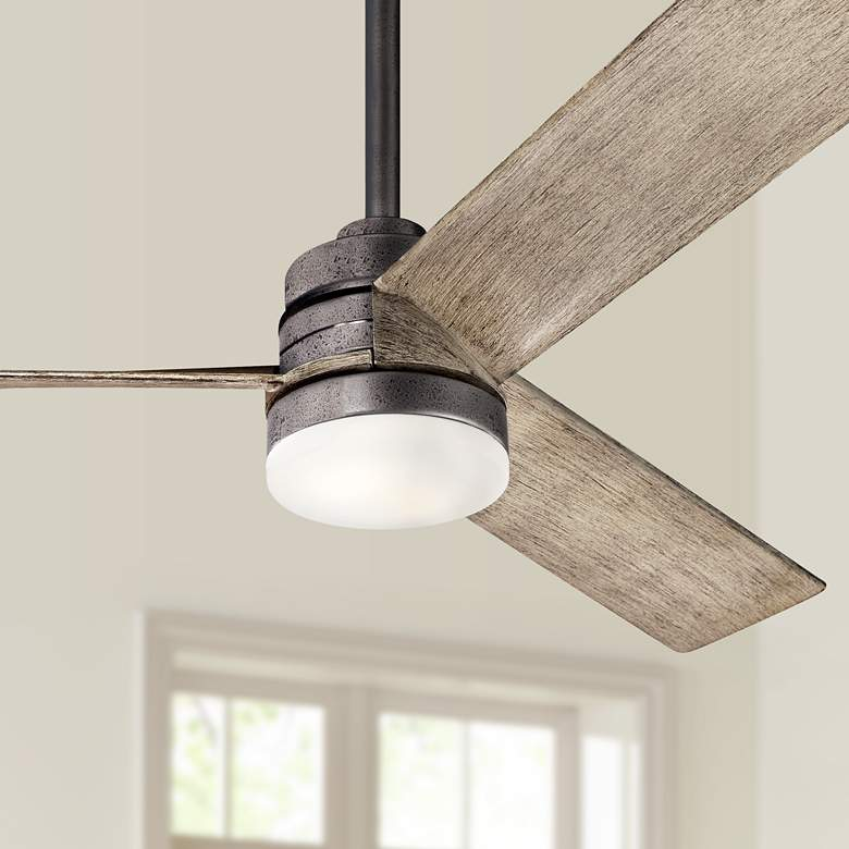 "52"" Kichler Spyn Anvil Iron LED Ceiling Fan"