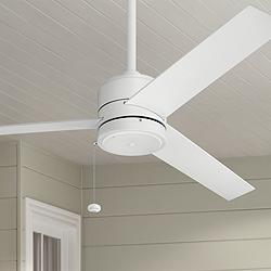 "52"" Kichler Arkwet Climates™ Matte White Ceiling Fan"