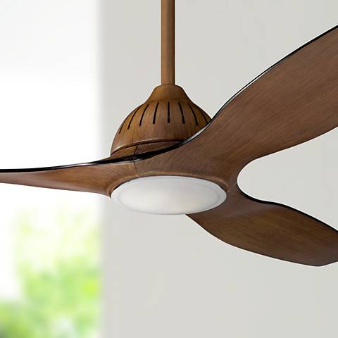 "60"" Kichler Jace Walnut LED Ceiling Fan"