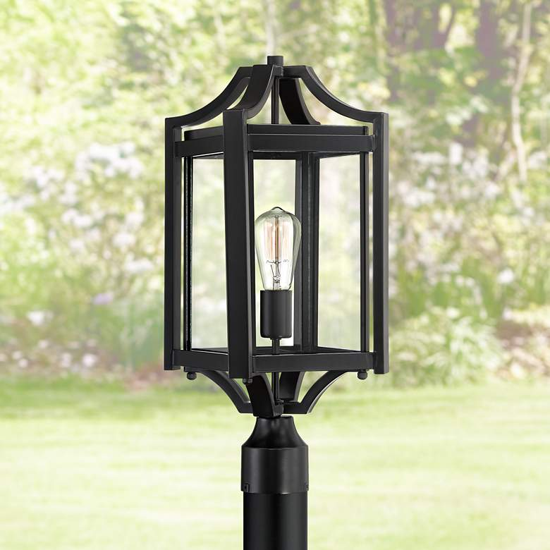 "Rockford Collection 20 1/4"" High Black Outdoor Post Light"