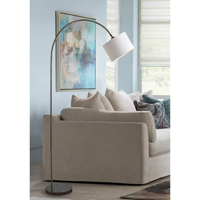 Kenroy Home Archer Antique Brass Metal Arc Floor Lamp
