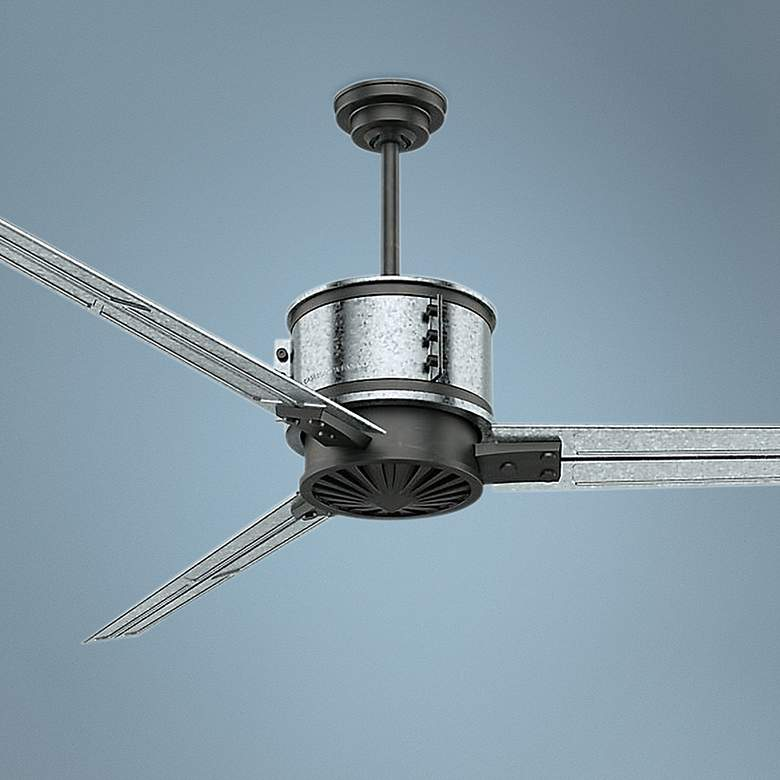 "72"" Casablanca Duluth Aged Steel Ceiling Fan"