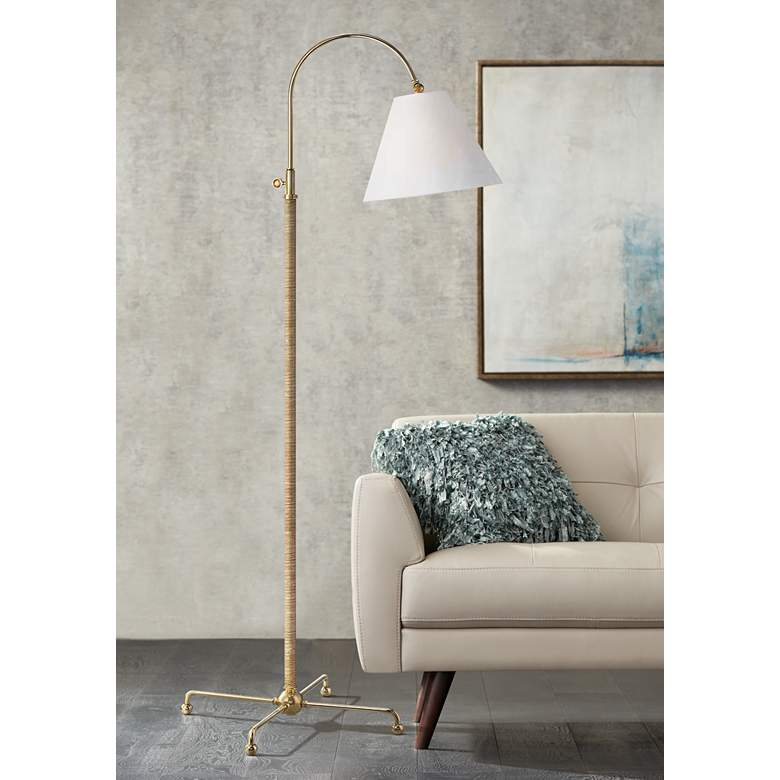 Curves No.1 Aged Brass Adjustable Floor Lamp