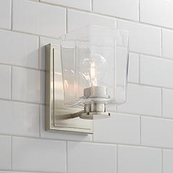 "Possini Euro Sonya 8 1/2""H Double Glass Wall Sconce"