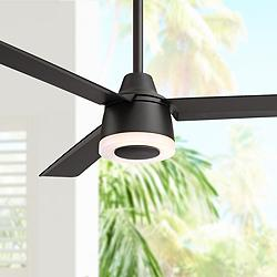 "50"" Temple Hill™ Matte Black LED Ceiling Fan"