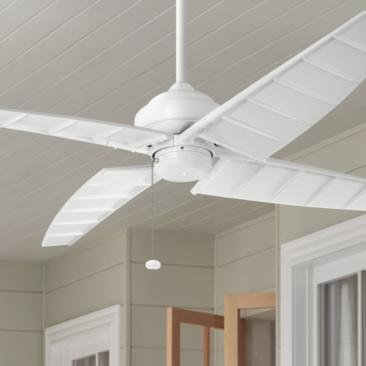 "60"" Kichler Surrey Climates Matte White Ceiling Fan"