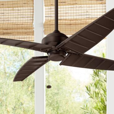 "60"" Kichler Surrey Climates Satin Natural Bronze Ceiling Fan"