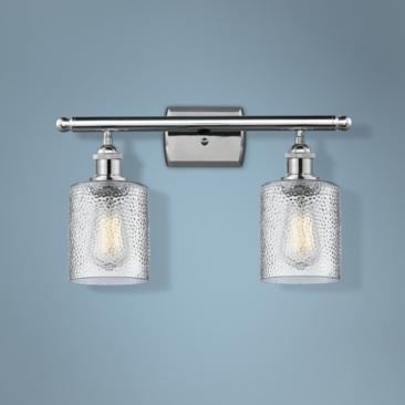 "Cobbleskill 9"" High Polished Chrome 2-Light Wall Sconce"