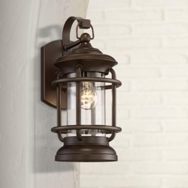 "Vermont 16 1/4"" High Oil-Rubbed Bronze Outdoor Wall Light"