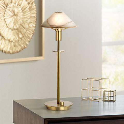 Holtkoetter Antique Brass Halogen Desk Lamp
