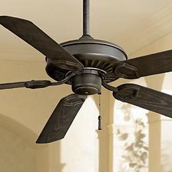 "54"" Minka Aire Iron Sundowner Outdoor Ceiling Fan"