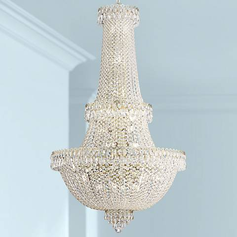 Schonbek Camelot Gold 41-Light Large Crystal Chandelier
