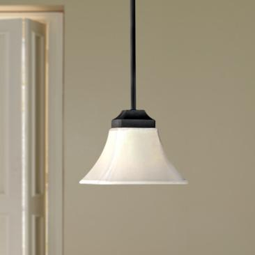 "Agilis One-Light 7 3/4"" Wide White Glass Mini Pendant"