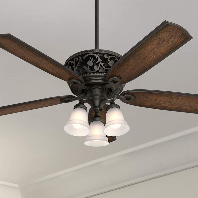 "54"" Hunter Promenade Brittany Bronze LED Ceiling Fan"