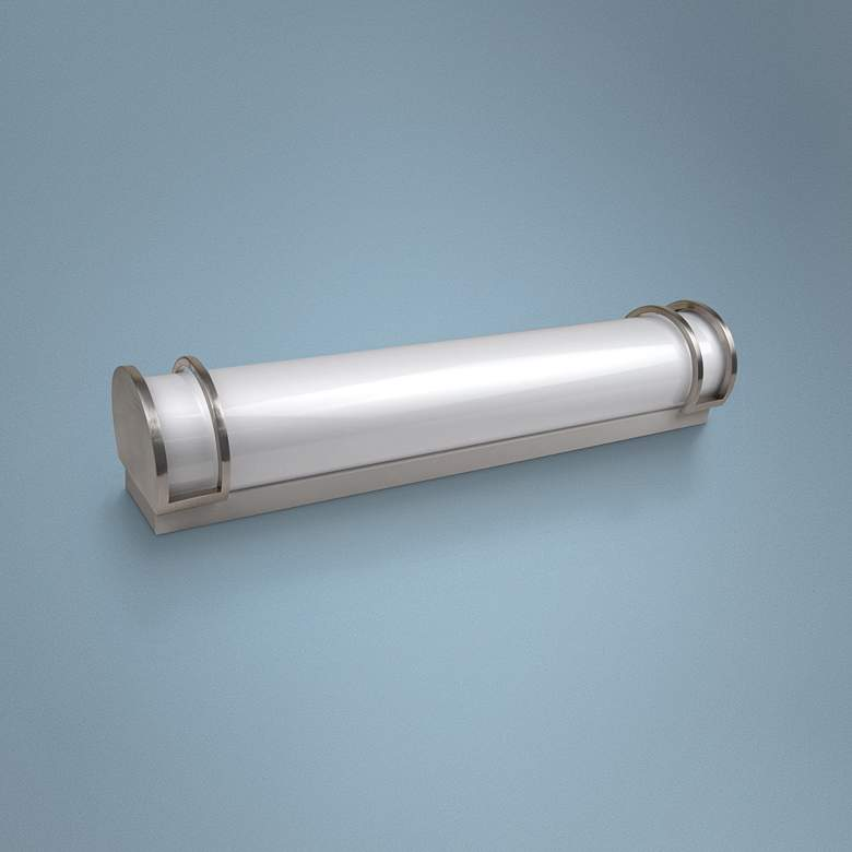 "Decorative Accent 24"" Wide Brushed Nickel LED Bath Light"