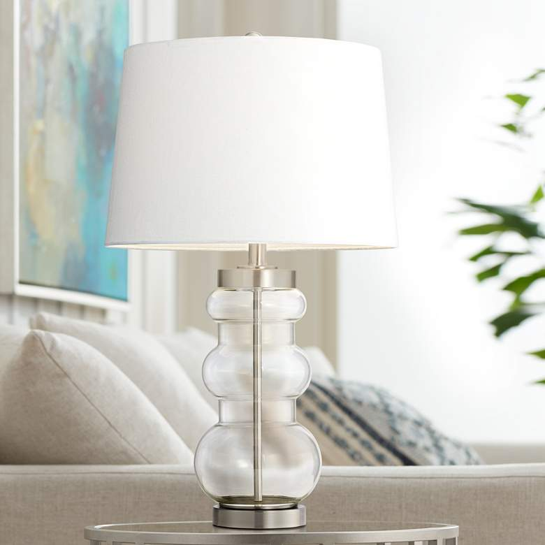 Morton Accordion Clear Glass Table Lamp