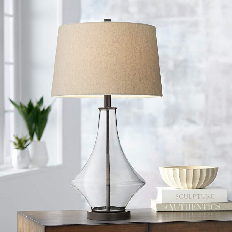 Stingray Clear Glass Table Lamp