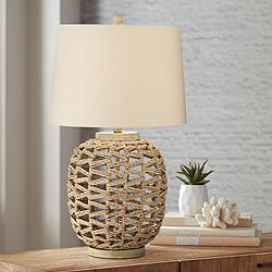 Montgomery Natural Rattan Rope Table Lamp