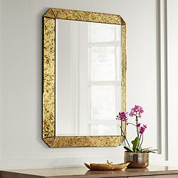 "Alena Antique Gold 28"" x 38"" Rectangular Wall Mirror"