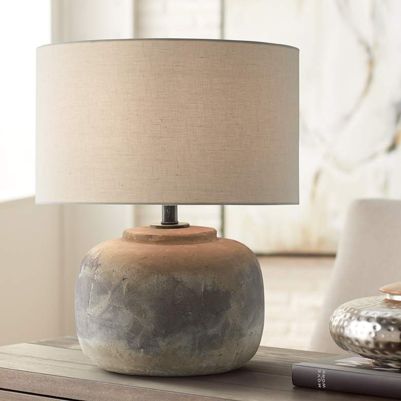 Currey and Company Beton Antique Earth Accent Table Lamp