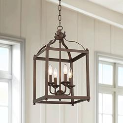 "Corvair 12"" Wide Bronze 4-Light Entry Mini Pendant Light"