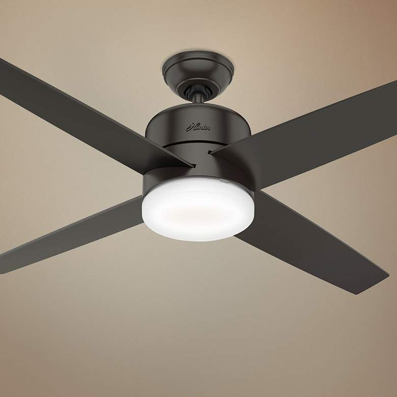 "54"" Hunter Advocate Noble Bronze LED Ceiling Fan"