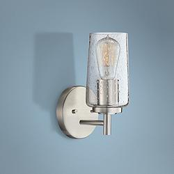 "Quoizel Edison 10"" High Brushed Nickel Wall Sconce"