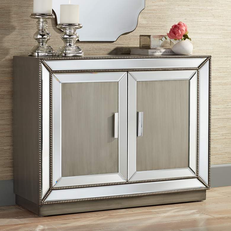 Galena 2-Door Mirrored Accent Cabinet