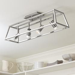 Pro Track Carmel 4-Light Brushed Nickel Cage Track Fixture
