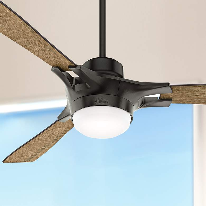 "54"" Hunter Signal Noble Bronze LED Ceiling Fan"