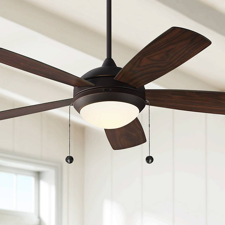 "52"" Monte Carlo Discus Roman Bronze LED Ceiling Fan"