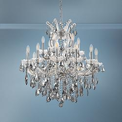 "Maria Theresa 30"" Wide Chrome 19-Light Crystal Chandelier"