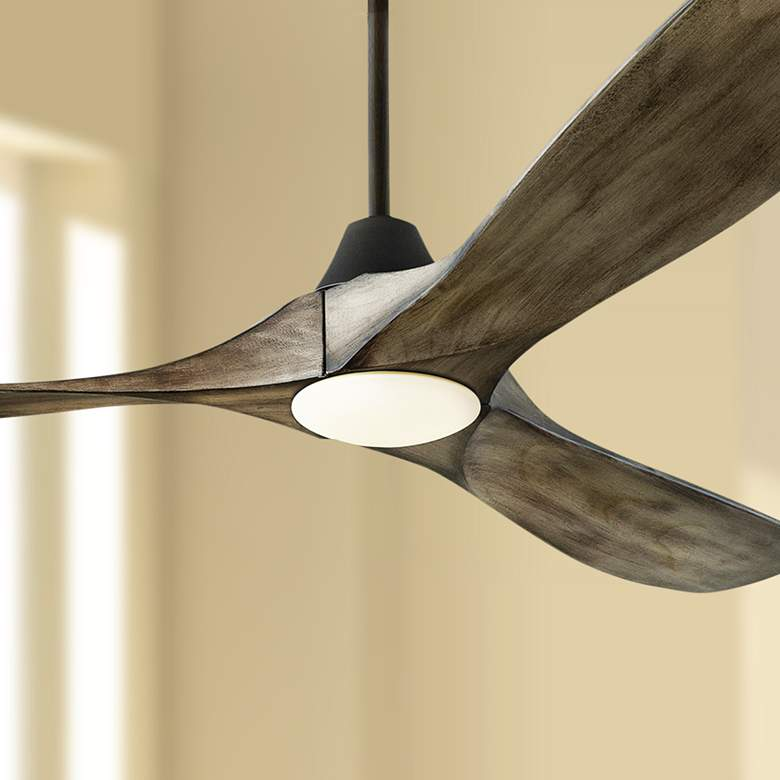 "60"" Monte Carlo Maverick Aged Pewter LED Ceiling Fan"