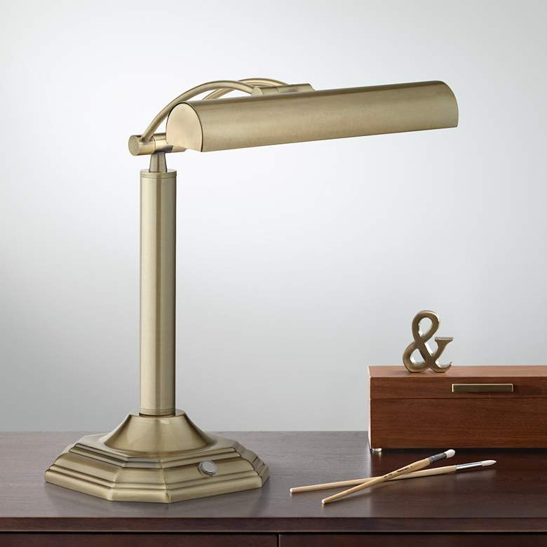 Grady Bankers Brass LED Piano Desk Lamp