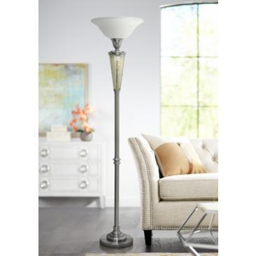 Northbay Mercury and Brushed Steel Torchiere Floor Lamp