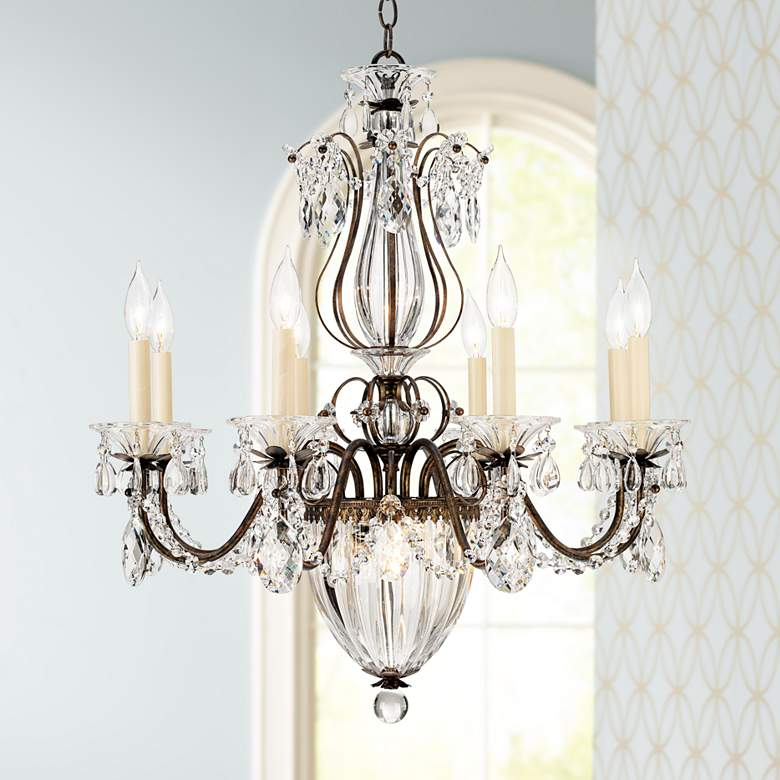 "Schonbek Bagatelle 26""W Heirloom Bronze Crystal Chandelier"