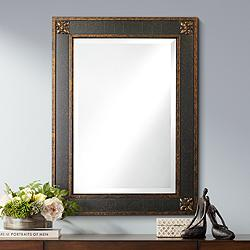 "Uttermost Bergamo Chestnut Brown 28"" x 38"" Wall Mirror"