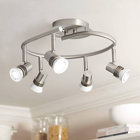 "Pro Track® 15 3/4"" Wide 5-Light Spiral Track Ceiling Light"