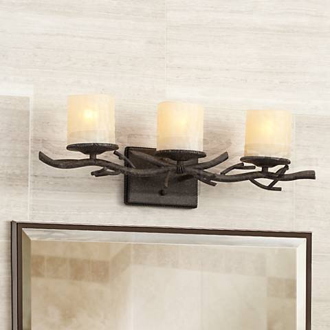 "Rustic Twig 25"" Wide Bathroom Wall Light"